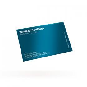Cartão de Visita - Frente Couchê 300g 8,8x4,8 cm  SEM VERNIZ Corte Reto