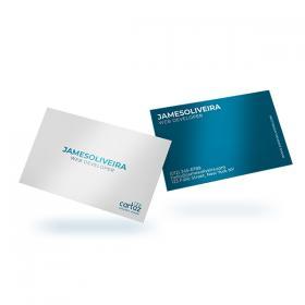 Cartão de Visita - Frente e Verso Couchê 300g 8,8x4,8 cm  SEM VERNIZ Corte Reto