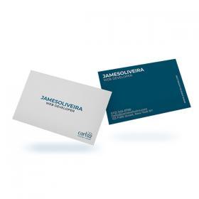 Cartão de Visita - Frente e Verso Couchê 300g 8,8x4,8 cm  LAMINAÇÃO FOSCA Corte Reto