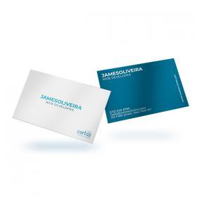 Cartão de Visita - Frente e Verso Couchê 300g 8,8x4,8 cm  VERNIZ UV TOTAL Corte Reto