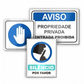 Placa de Sinalização PS - Poliestireno  4x0 Vinil Branco
